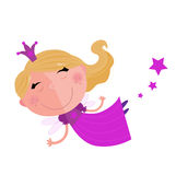 Cute Fairy Princess Character isolated on white Royalty Free Stock Images