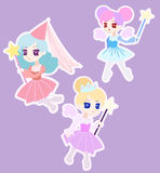 Cute Fairy Princess Character with Wings Royalty Free Stock Photos