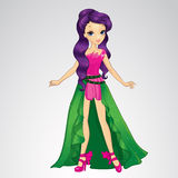 Cute Fairy With Purple Hair Royalty Free Stock Photo