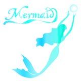 Cute fairy swimming mermaid Stock Photos