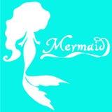 Cute fairy swimming mermaid Royalty Free Stock Photo