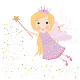 Cute fairy tale with lilac dress vector Royalty Free Stock Images