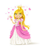 Cute fairy-tale Princess with a love potion Royalty Free Stock Photos