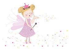 Cute fairy tale sending fairy dust Royalty Free Stock Photography
