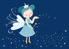 Cute fairy tale sending stars. Background Stock Photography
