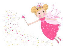 Cute fairy tale with stars vector Stock Image