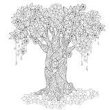 Cute fairy tale tree from magic forest Stock Photo