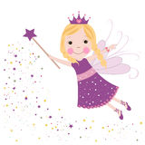Cute fairytale purple stars shining Stock Image