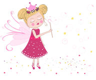 Cute fairytale soap bubbles vector background Royalty Free Stock Images