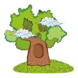 Cute fairytale tree icon stock illustration