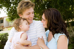 Cute family stock image