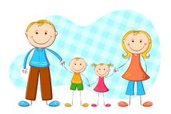 Cute Family Royalty Free Stock Images