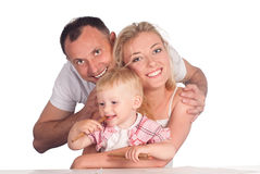 Cute family drawing Royalty Free Stock Images
