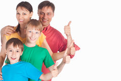 Cute family of a four Stock Photo