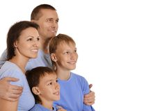 Cute family isolated Stock Photography