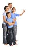 Cute family isolated Royalty Free Stock Images