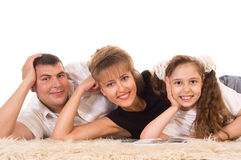 Cute family lying Royalty Free Stock Photography