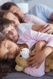 Cute family napping together Royalty Free Stock Images