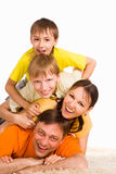Cute family portrait Stock Photography
