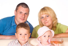 Cute family portrait Royalty Free Stock Photo