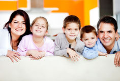 Cute family portrait Royalty Free Stock Image