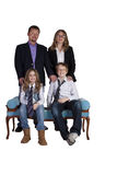 Cute Family Posing on White Background Royalty Free Stock Image