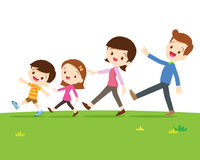 Cute family walking Royalty Free Stock Photos