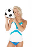 Cute fan with ball Stock Photography