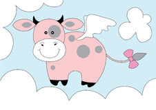 Cute fantasy pink cow Stock Photography