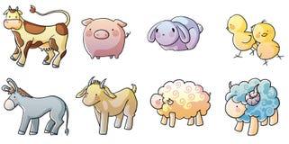 Cute farm animals Stock Photos