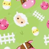 Cute Farm animals pattern Royalty Free Stock Photography