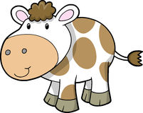 Cute Farm Cow Vector Royalty Free Stock Images