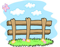 Cute Farm Fence Vector Royalty Free Stock Photo