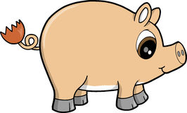 Cute Farm Pig Vector Stock Images