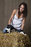 Cute farm worker Royalty Free Stock Photo