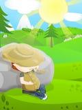 Cute farmer royalty free stock photo