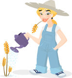 Cute Farmer Girl Stock Photos