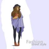 Cute fashion girl Royalty Free Stock Photos