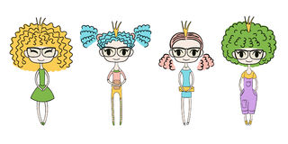 Cute fashion girls Stock Photo