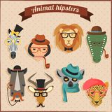 Cute fashion Hipster African Animals Stock Photos