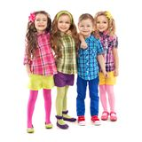 Cute fashion kids are standing together Royalty Free Stock Photography