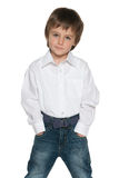 Cute fashion little boy Stock Photos