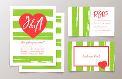 Cute fashionable cards and invitations Stock Photo