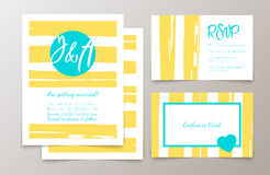 Cute fashionable cards and invitations Stock Photography