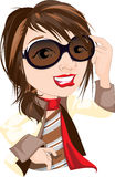 Cute Fashionista Girl Stock Images
