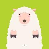 Cute fat big lamb Royalty Free Stock Photo
