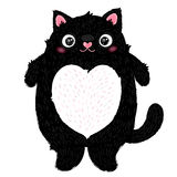 Cute fat cat character Royalty Free Stock Image