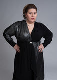 Cute fat woman expression Royalty Free Stock Photo