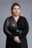 Cute fat woman expression Stock Photos