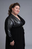 Cute fat woman expression Stock Images